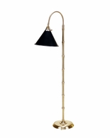 65071 Frederick Cooper Brass Antique Patina Bostwick II Floor Lamp- Brass