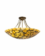 65079 Frederick Cooper Round Marble Chandelier Yellow Marble Parlor Pendant