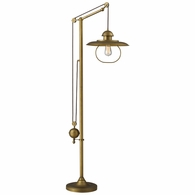 65101-1 ELK Lighting Farmhouse Adjustable Floor Lamp in Antique Brass (D2254)