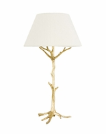 65120 Frederick Cooper Iron Gilded Gold Sprig's Promise Lamp - Gold