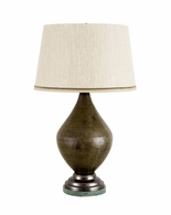 65128 Frederick Cooper Dimpled Verdigris Ovoid Lamp Marble Base Green Finish Stromboli Lamp