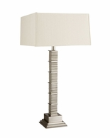 65131 Frederick Cooper Metal Satin Nickel Landmark Lamp