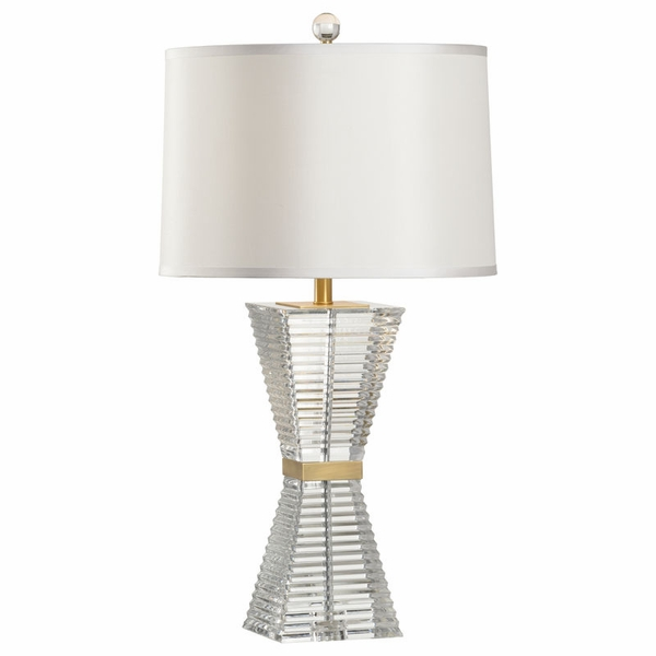65681 Frederick Cooper Crystal/Brass Clear/Antique Hadid Lamp