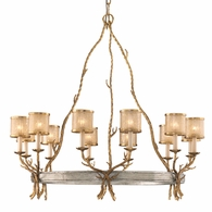 66-012 Corbett Parc Royale 12Lt Chandelier with Gold And Silver Leaf Finish