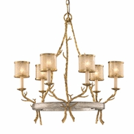 66-06 Corbett Parc Royale 6Lt Chandelier with Gold And Silver Leaf Finish