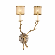 66-12 Corbett Parc Royale 2Lt Wall Sconce with Gold And Silver Leaf Finish