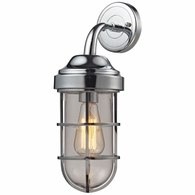 66345/1 ELK Lighting Seaport 1-Light Wall Lamp in Polished Chrome with Clear Glass