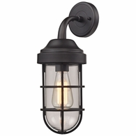 66365/1 ELK Lighting Seaport 1-Light Wall Lamp in Oil Rubbed Bronze with Clear Glass