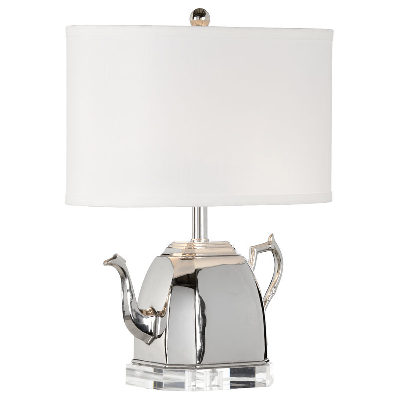 66842 Frederick Cooper Brass Polished Nickel Spout Lamp