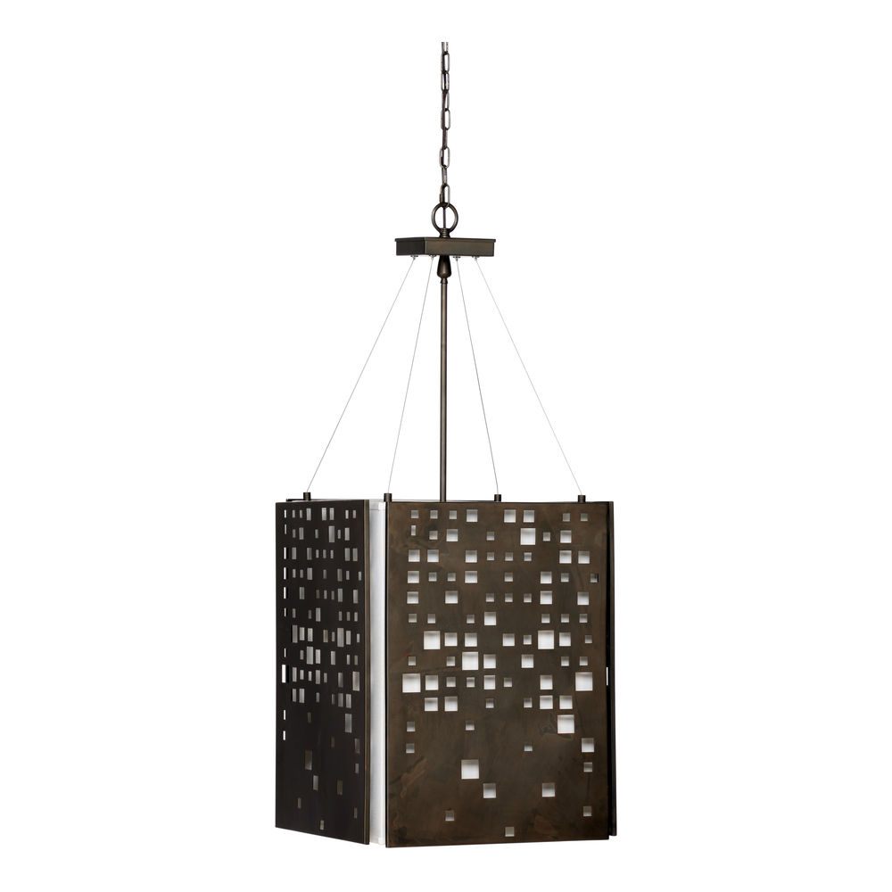 67227 Wildwood Steel Bronze City Lights Pendant - Bronze