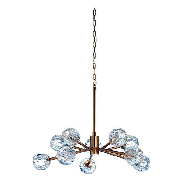 67253 Wildwood Iron/Crystal Antique Brass/Clear Molby Chandelier