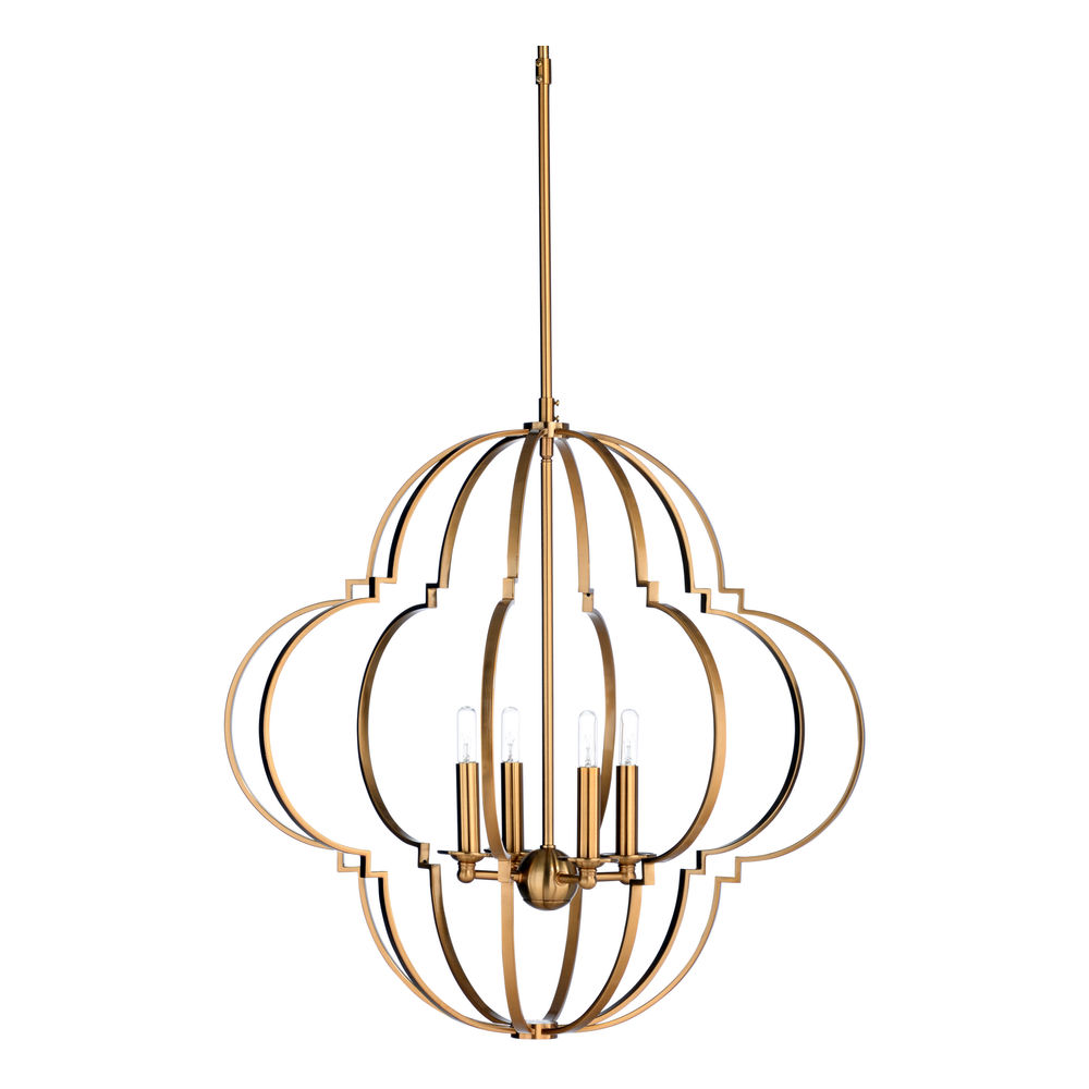 67263 Wildwood Iron Antique Brass Lola Chandelier - Brass (Lg)