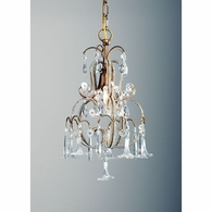 68000 Chelsea House Italian Gilt Frame Crystal Flowers And Drops Temple Chandelier