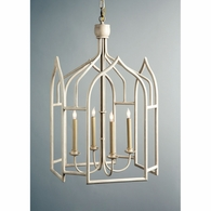 68004 Chelsea House Gothic Shaped Metal Lantern Swedish White Finish Seville Lantern - White