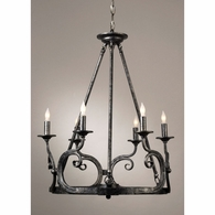 68009 Chelsea House Black Hand Finish On Metal Black Hand Finish On Metal VIntage Chandelier