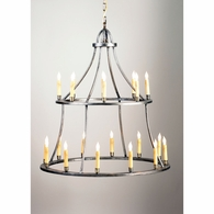 68015 Chelsea House 2 Tier Metal Frame Antique Silver Colonial Chandelier
