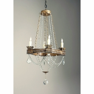 68017 Chelsea House Antique Silver Frame Crystal Swags And Ball Meredith Chandelier