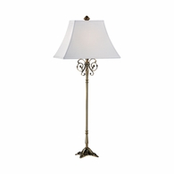 68062-2 Chelsea House Brass Lamp With Detailed Casting Brass Lamp With Detailed Casting Martignas Buffet Lamp