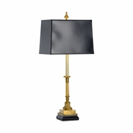 68065-2 Chelsea House Lost Wax Brass Casting Black Base & Shade St Michel Buffet Lamp