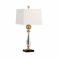 68072-2 Chelsea House Brass Ball And Glass Column Brass Ball And Glass Column Daines Accent Lamp