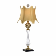 68072 Chelsea House Brass Ball And Glass Column Brass Ball And Glass Column Daines Accent Lamp