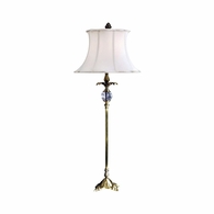 68080 Chelsea House Brass Lamp With Glass Ball Insert Brass Lamp With Glass Ball Insert Starbrite Console Lamp