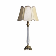 68084 Chelsea House Brass Lamp With Glass Column Brass Lamp With Glass Column Brass Prism Table Lamp