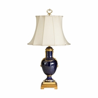 68088 Chelsea House Cobalt Porcelain Lamp With Gold Accent Cobalt Porcelain Lamp With Gold Accent Sloan Accent Lamp
