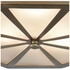 68110/3 ELK Lighting Windsor 3-Light Flush Mount in Classic Brass with Frosted Glass Diffuser