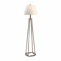 68440 Chelsea House Lisa Kahn Wrought Iron Old Gold Finish Club Floor Lamp