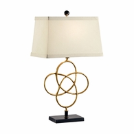 68589 Chelsea House Lisa Kahn Iron And Wood Gold Leaf Finish Loose Knot Lamp - Gold