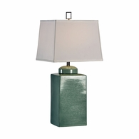 68601 Chelsea House Lisa Kahn Ceramic With Crackle Glaze Nickel Accents Gossamer Lamp - Rain Washed