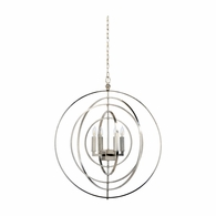 68692 Chelsea House Lisa Kahn Metal Nickel Finish Globe Chandelier
