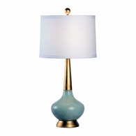 68778 Chelsea House Pam Cain Porcelain And Composite Celadon & Gold Eden Lamp