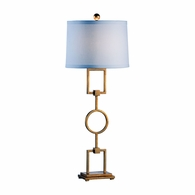 68783 Chelsea House Lisa Kahn Hand Crafted Iron Gold Leaf Finish Hangman Lamp - Gold