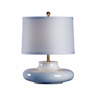 69047 Chelsea House Bradshaw Orrell Ceramic White Glaze Finish Gainsboro Lamp - White