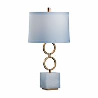 69117 Chelsea House Bradshaw Orrell Iron Gold Leaf Finish Henry Lamp