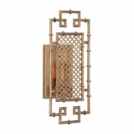 69123 Chelsea House Bradshaw Orrell Iron Gold Leaf Finish Benton Sconce - Gold