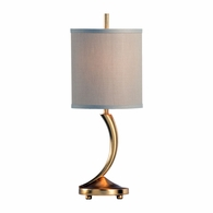 69161 Chelsea House Pam Cain Iron Antique Gold Leaf Kia Lamp - Gold