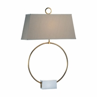 69162 Chelsea House Bradshaw Orrell Iron & Marble Antique Gold Leaf Ring Lamp
