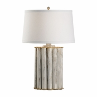 69224 Chelsea House Bradshaw Orrell Iron Gold With White Wash Reidsville Lamp - White Wash