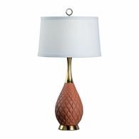 69225 Chelsea House Pam Cain Composite Gold Leaf & Cedar Wood Finish Clark Lamp
