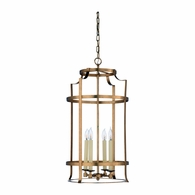 69266 Chelsea House Bradshaw Orrell Steel Antique Gold Leaf Large Romney Lantern - Gold
