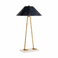 69291 Chelsea House Bradshaw Orrell Iron & Marble Antique Gold Leaf Large Aviary Lamp