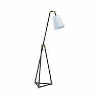 69344 Chelsea House Bradshaw Orrell Iron, Leather & Metal Coffee Bronze/Mahogany Triangle Floor Lamp - Brown