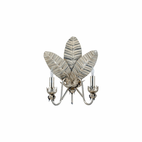 69347 Chelsea House Fern Leaf Sconce - Silver