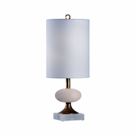 69422 Chelsea House Bradshaw Orrell Alabaster/Iron Natural White/Antique Gold Leaf Charlotte Lamp