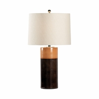 69456 Chelsea House Pam Cain Ceramic Two Tone Brown Glaze Destin Lamp - Brown