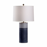 69457 Chelsea House Pam Cain Ceramic Two Tone Blue Glaze Destin Lamp - Navy