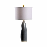 69461 Chelsea House Pam Cain Ceramic Gray Blue/White Gulf City Lamp - Blue/White